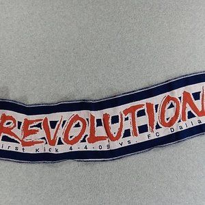 New England Revolution MLS 2 Sided Soccer Scarf